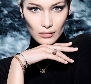 Bella Hadid Shares her First Bvlgari Jewelry Campaign