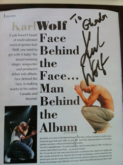 Karl Wolf's autographed article